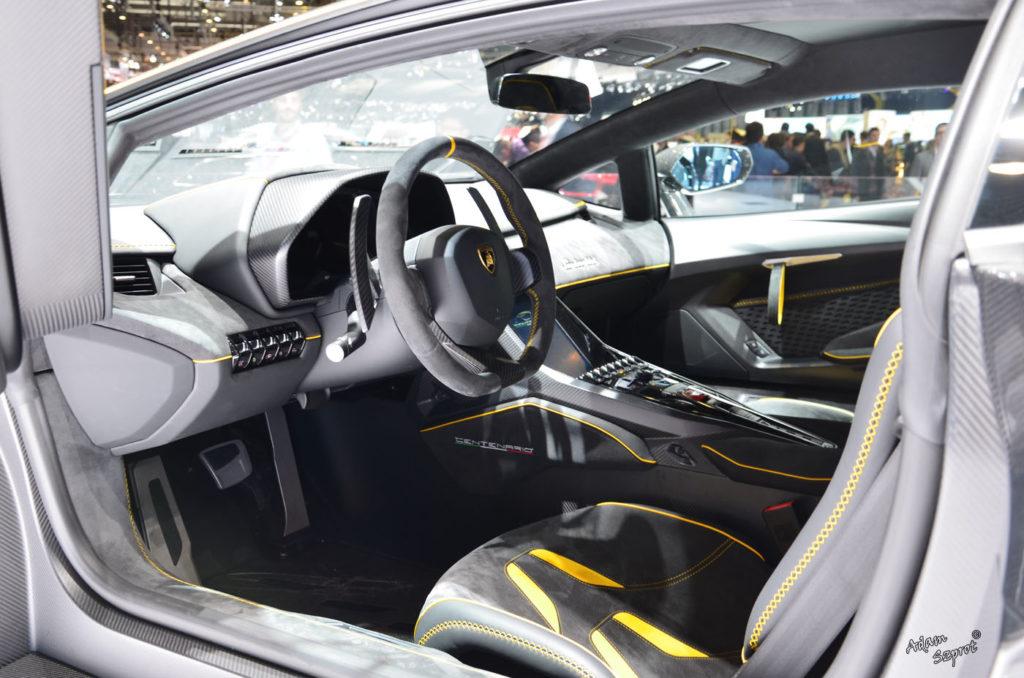 Premiera Lamborghini Centenario LP770-4, środek, wnętrze, interior, blog motoryzacyjny, serwis motoryzacyjny, artykuły o samochodach, najciekawsze auta.