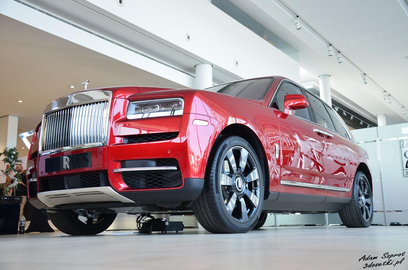 Polska premiera Rolls-Royce Cullinan - widok z przodu