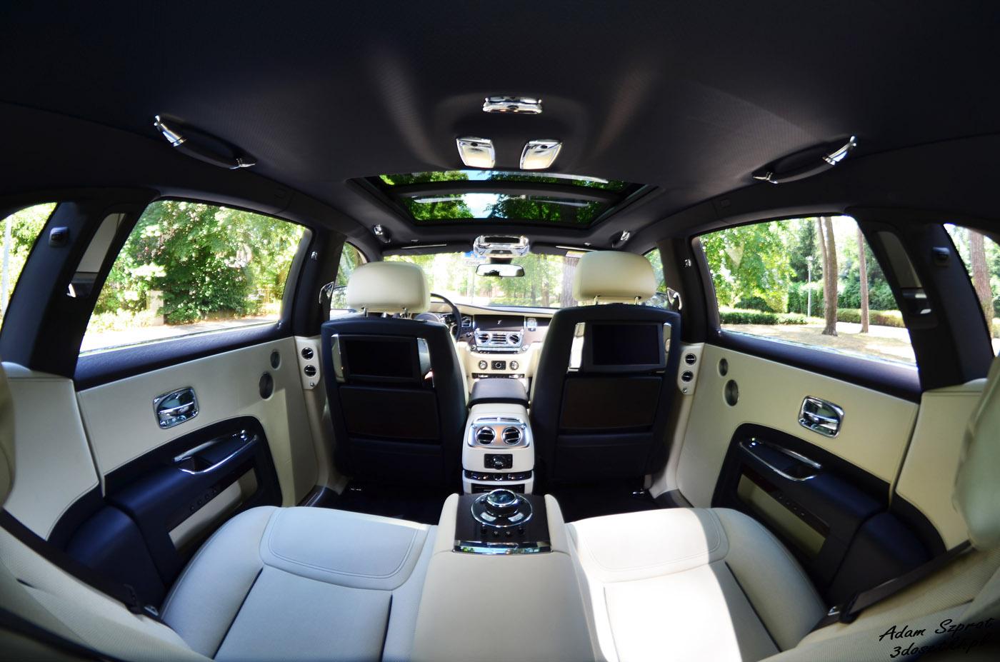 Przestrzeń w testowanym Rolls-Royce Ghost EWB