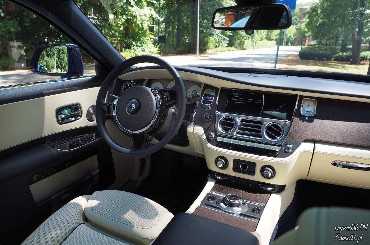Wnętze testowanego Rolls-Royce Ghost EWB