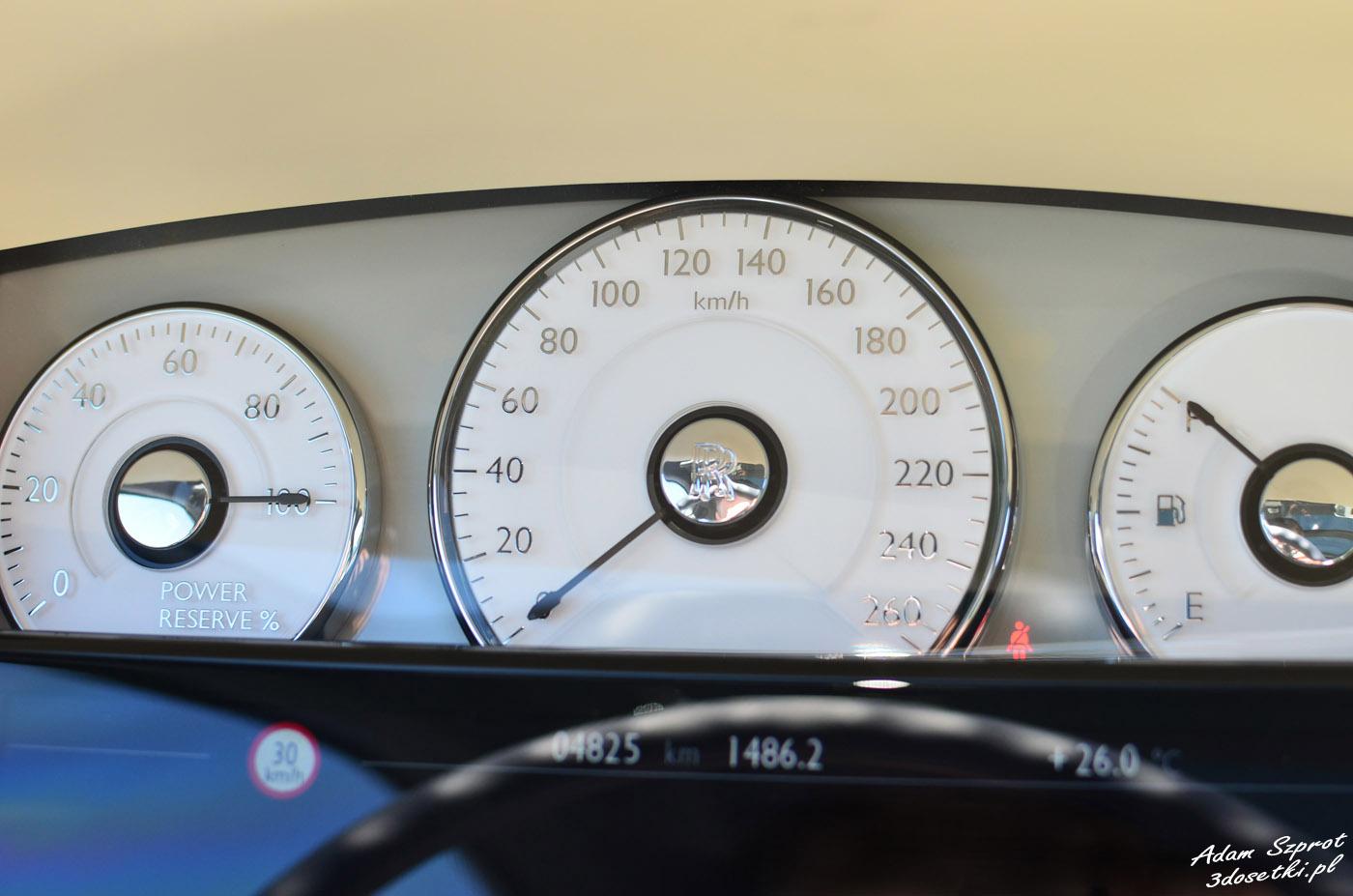 Zegary w Rolls-Royce Ghost EWB, blog motoryzacyjny