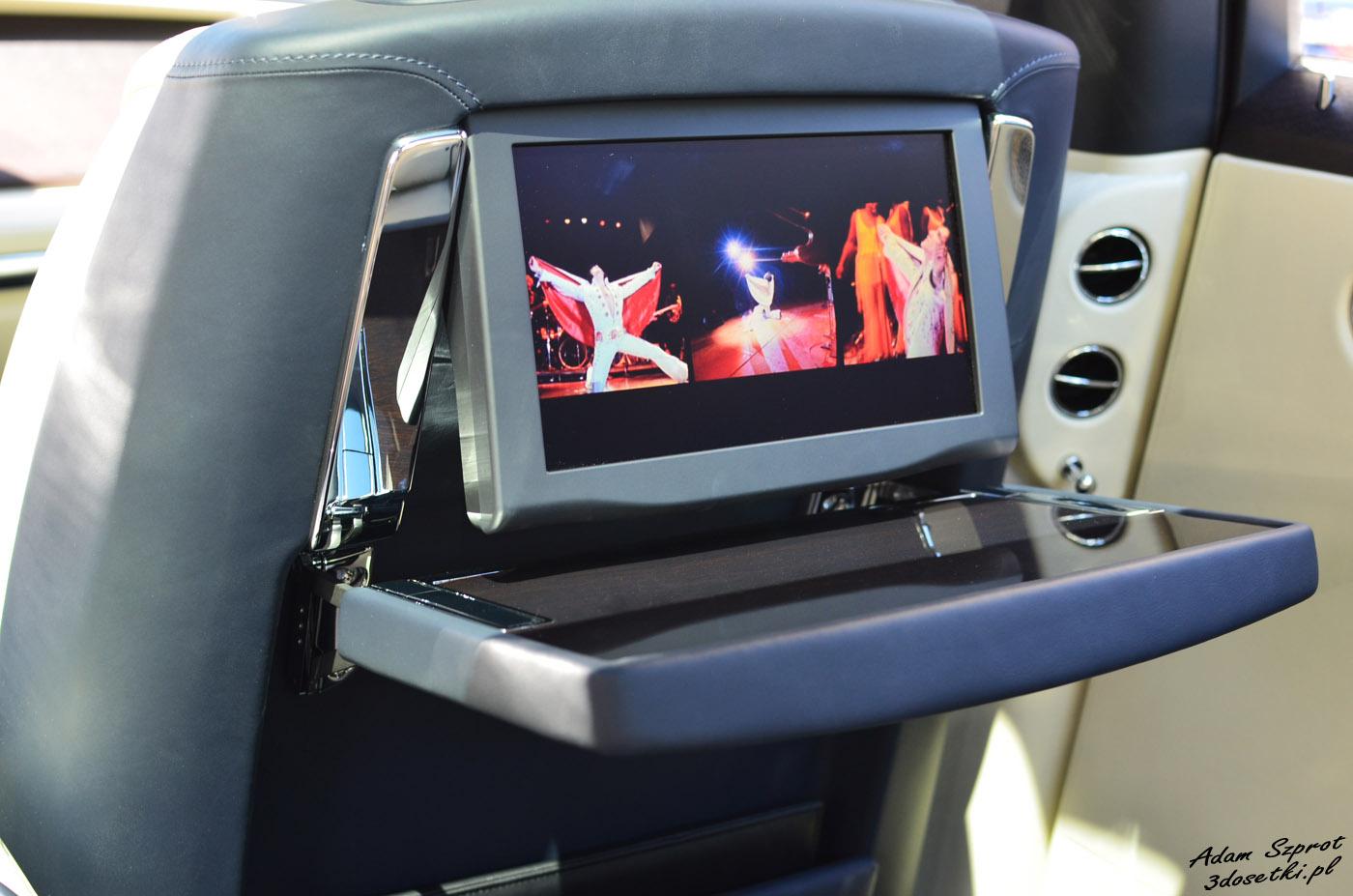 Ekran tylny w Rolls-Royce Ghost Extended Wheelbase