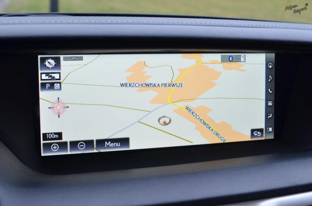 Ekran nawigacji Lexus GS450h, testy i opisy samochodów, blog samochodowy, jazdy próbne, Lexus GS450h F-Sport