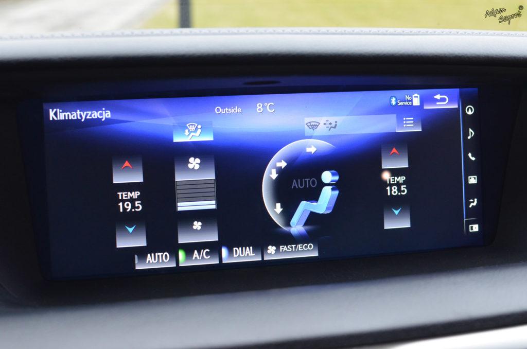 Ekran Lexus GS450h, testy i opisy samochodów, blog samochodowy, jazdy próbne, Lexus GS450h F-Sport