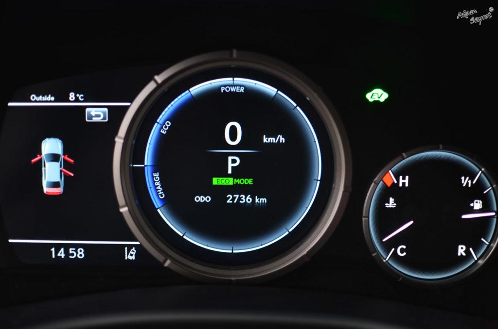 Zegary Lexus GS450h, testy i opisy samochodów, blog samochodowy, jazdy próbne, Lexus GS450h F-Sport