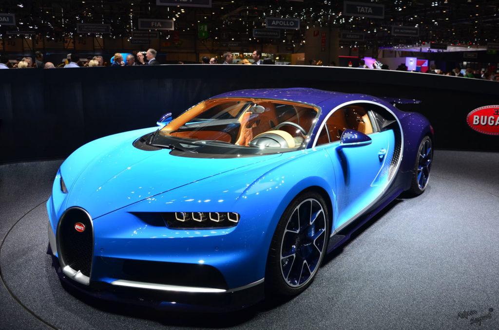 przód samochodu Bugatti Chiron, premiera mtoryzacjna, blog motoryzacyjny, relacja z premiery motoryzacyjnej, genewa motor show, 2016, serwis motoryzacyjny, artykuły o samochodach, najciekawsze auta.