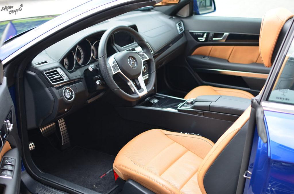 Mercedes-Benz E 250 Coupe / E 400 Kabriolet - wnętrze E 400 kabrio, blog motoyzacyjny, strona o samochodach, auta, motoryzacja, strona o motoryzacji