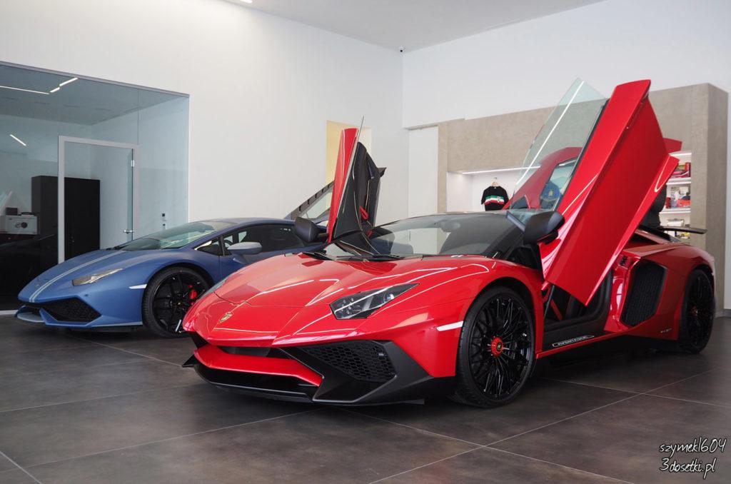 Wizyta w nowym salonie Lamborghini Warszawa - strona motoryzacyjny, blog motoryzacyjny, strona o motoryzacji, Lamborghini Huracan Spyder, Aventador SV Roadster