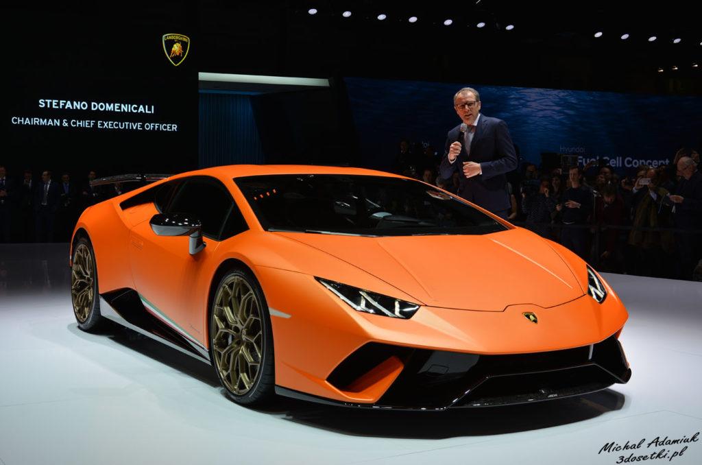 Prezes Lamborghini przedstawia samochód Huracan Performante - blog motoryzacyjny, premiery motoryzacyjne, witryna o samochodach
