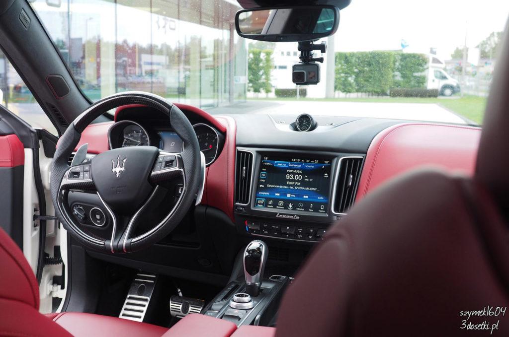 Wnętrze Maserati Levante S - samochody, opisy, testy