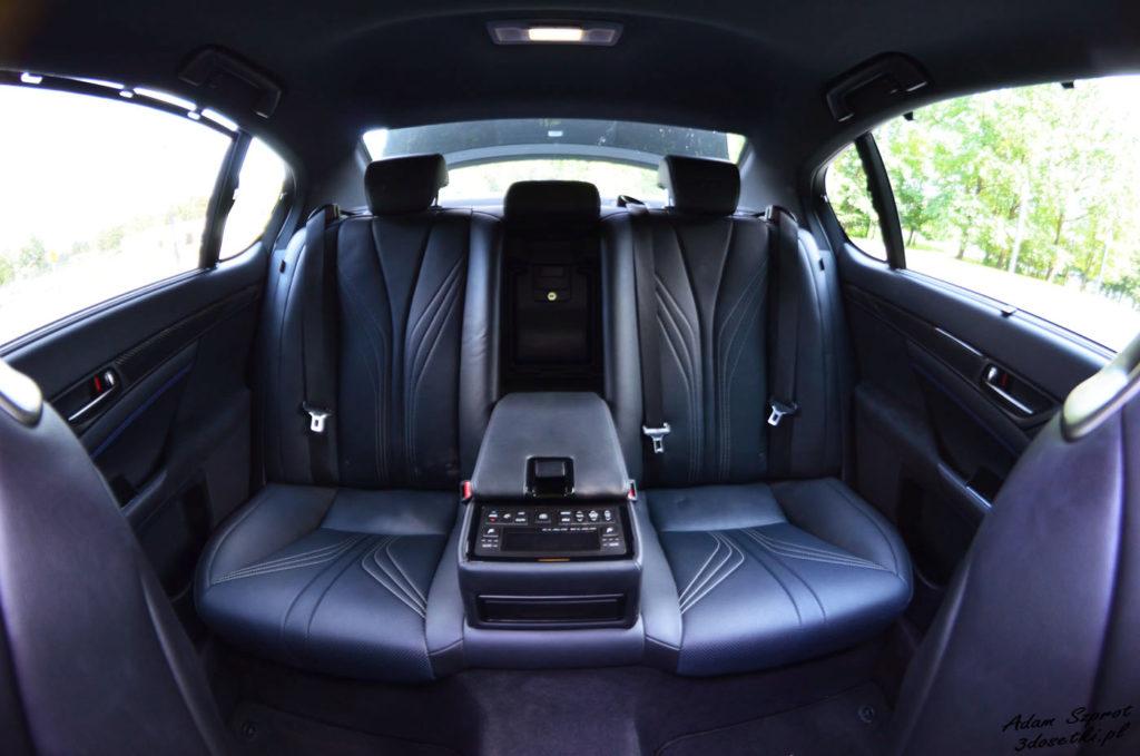 Lexus GS F test - tylne miejsca