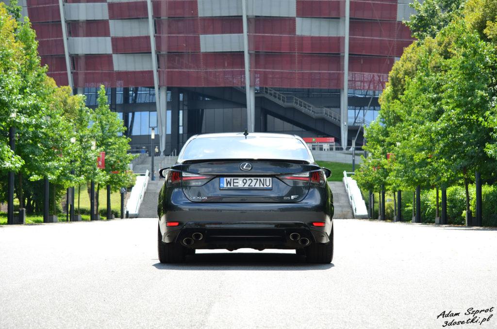 Test samochody Lexus GS F - widok z tyłu