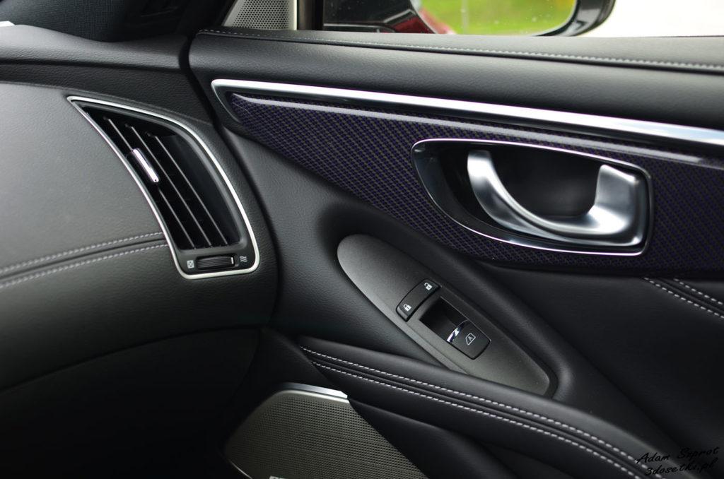 Szczegóły Infiniti pokazane w teście motoryzacyjnym