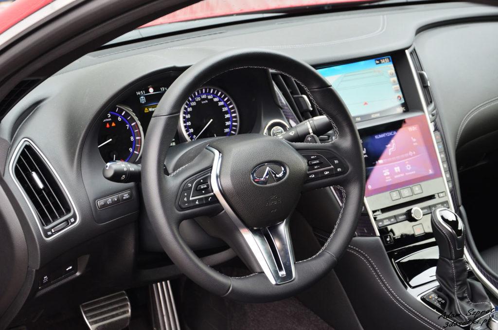 Kierownica w Infiniti Q60 3,0T - portal motoryzacyjny z testami samochodów