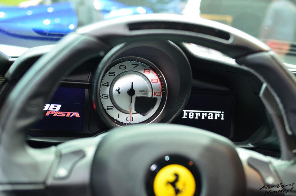 Niesamowite zegary Ferrari 488 Pista - portal motoryzacyjny