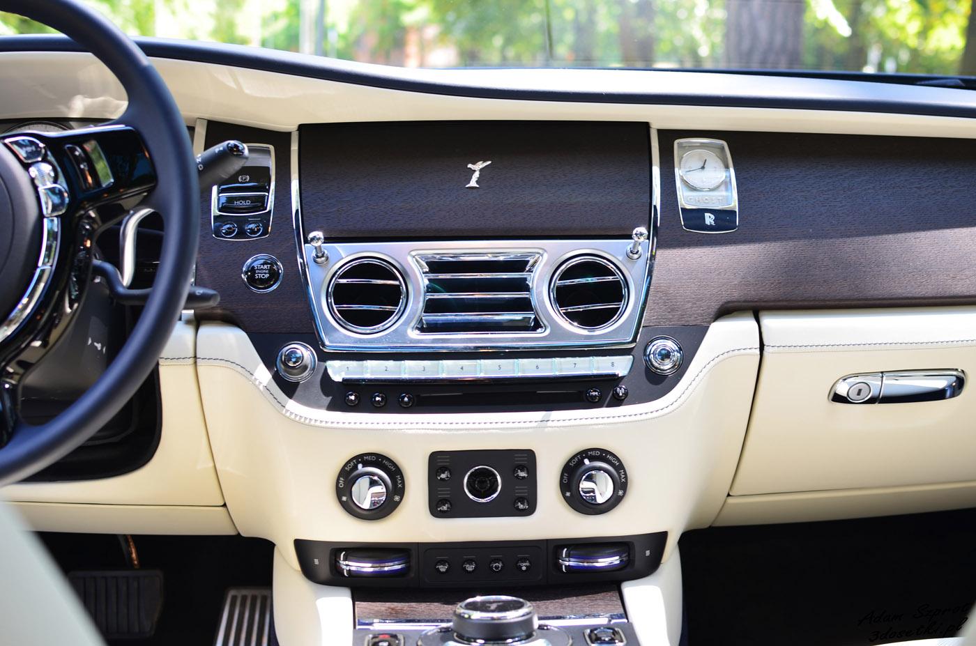 Test Rolls-Royce Ghost EWB - wnętrze