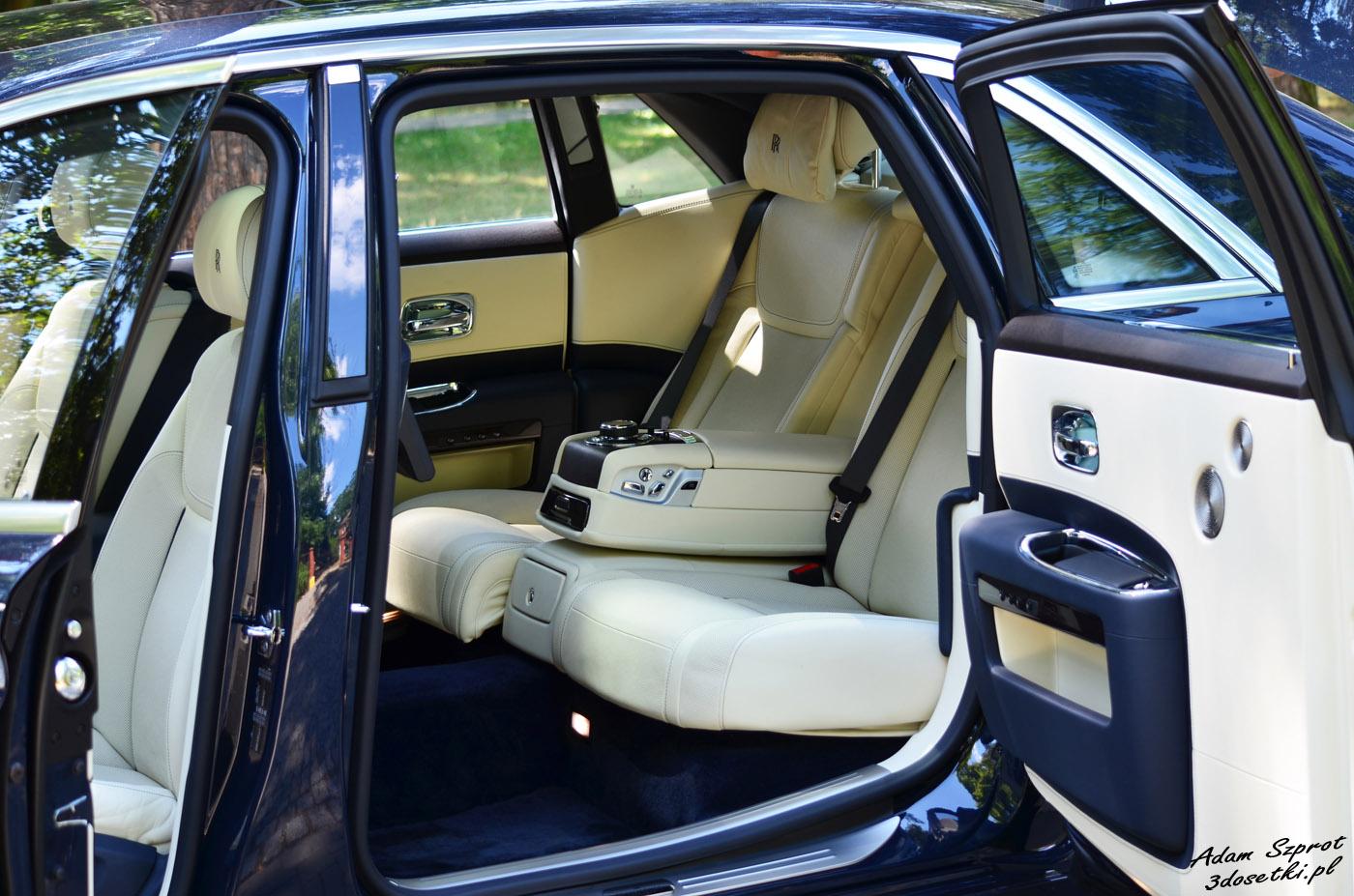 Test Rolls-Royce Ghost EWB - tylna kanapa
