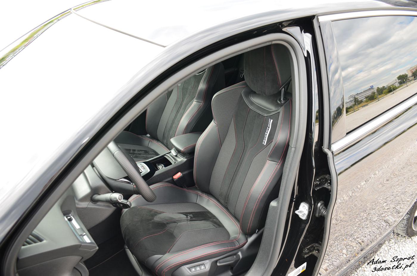 Fotele w Peugeocie 308 GTi