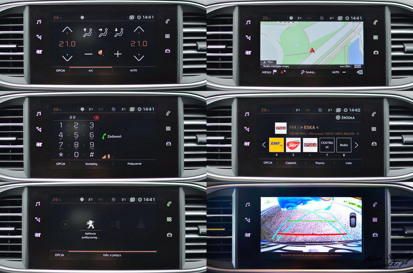 Ekran centralny - test Peugeota 308 GTi
