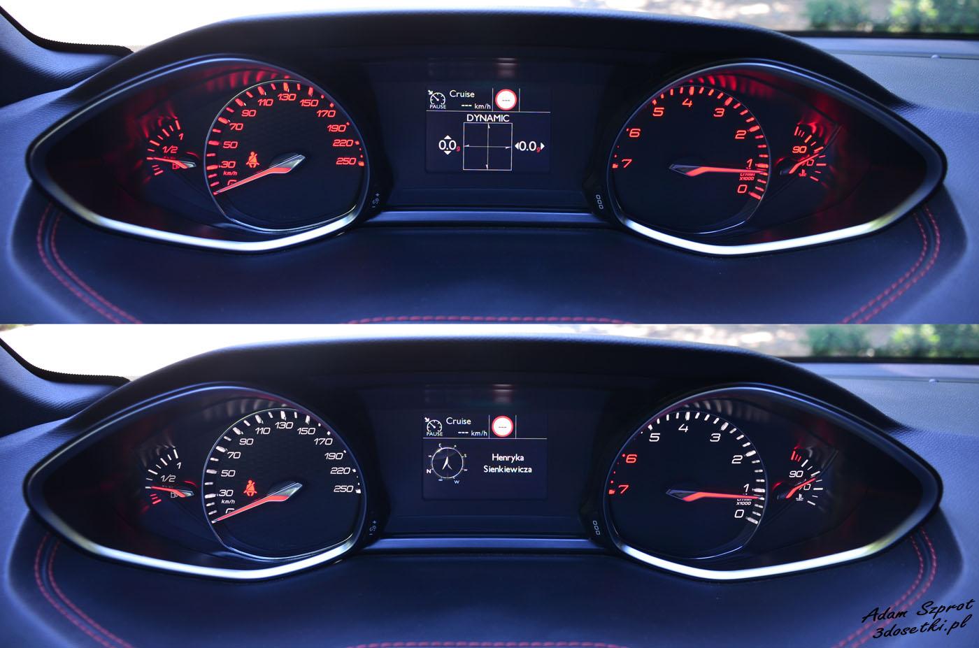 Zegary sportowej odmiany Peugeota 308