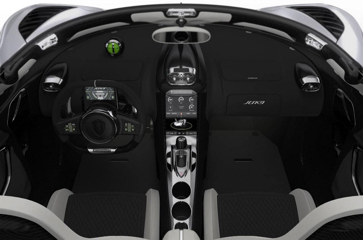 Wnętrze Koenigsegg Jesko
