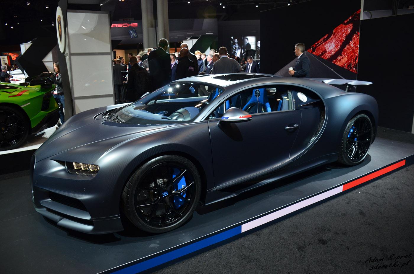 Targi w Nowym Jorku - Bugatti Chirona Sport 110 Ans