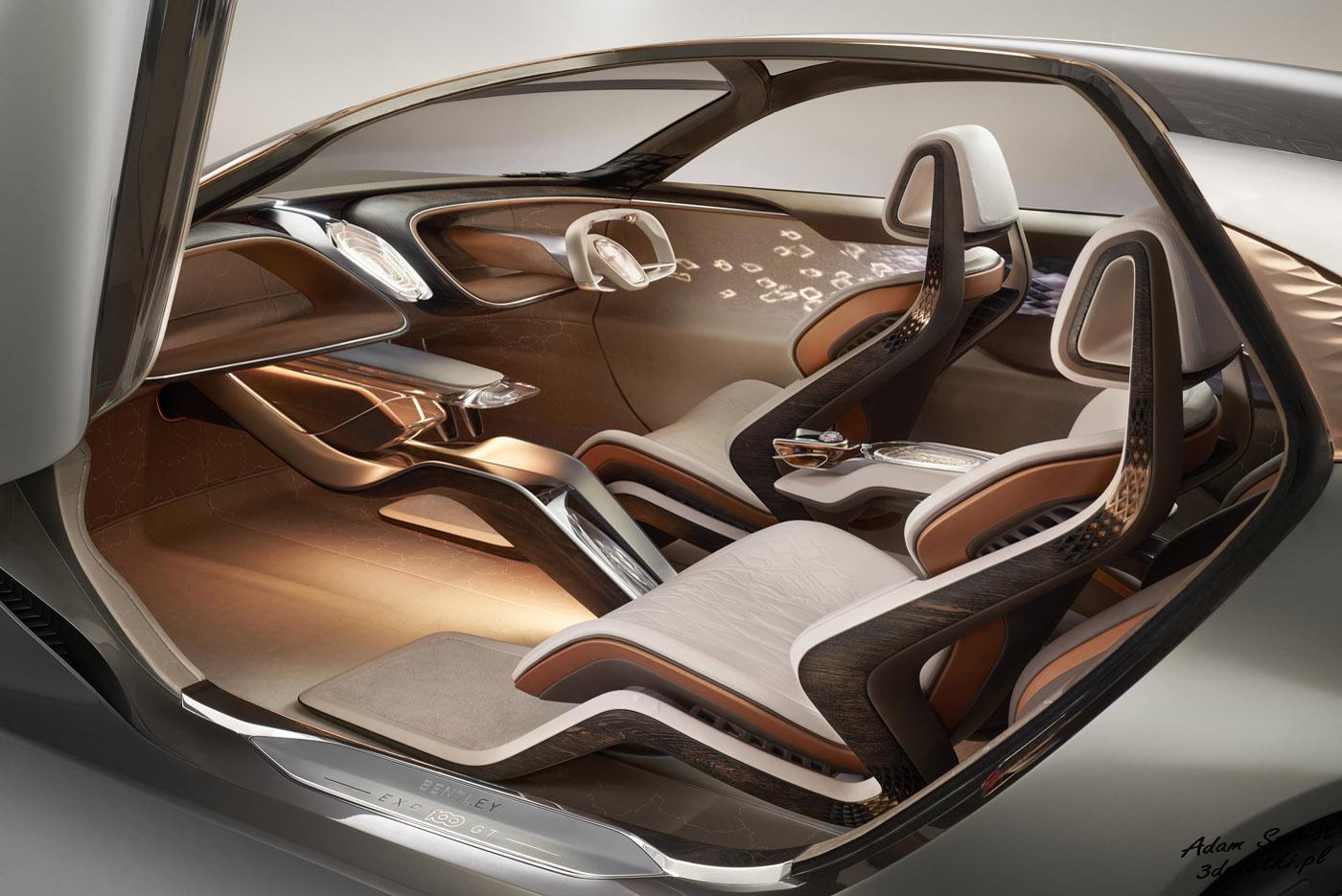 Bentley EXP 100 GT - samochód koncepcyjny - wnętrze