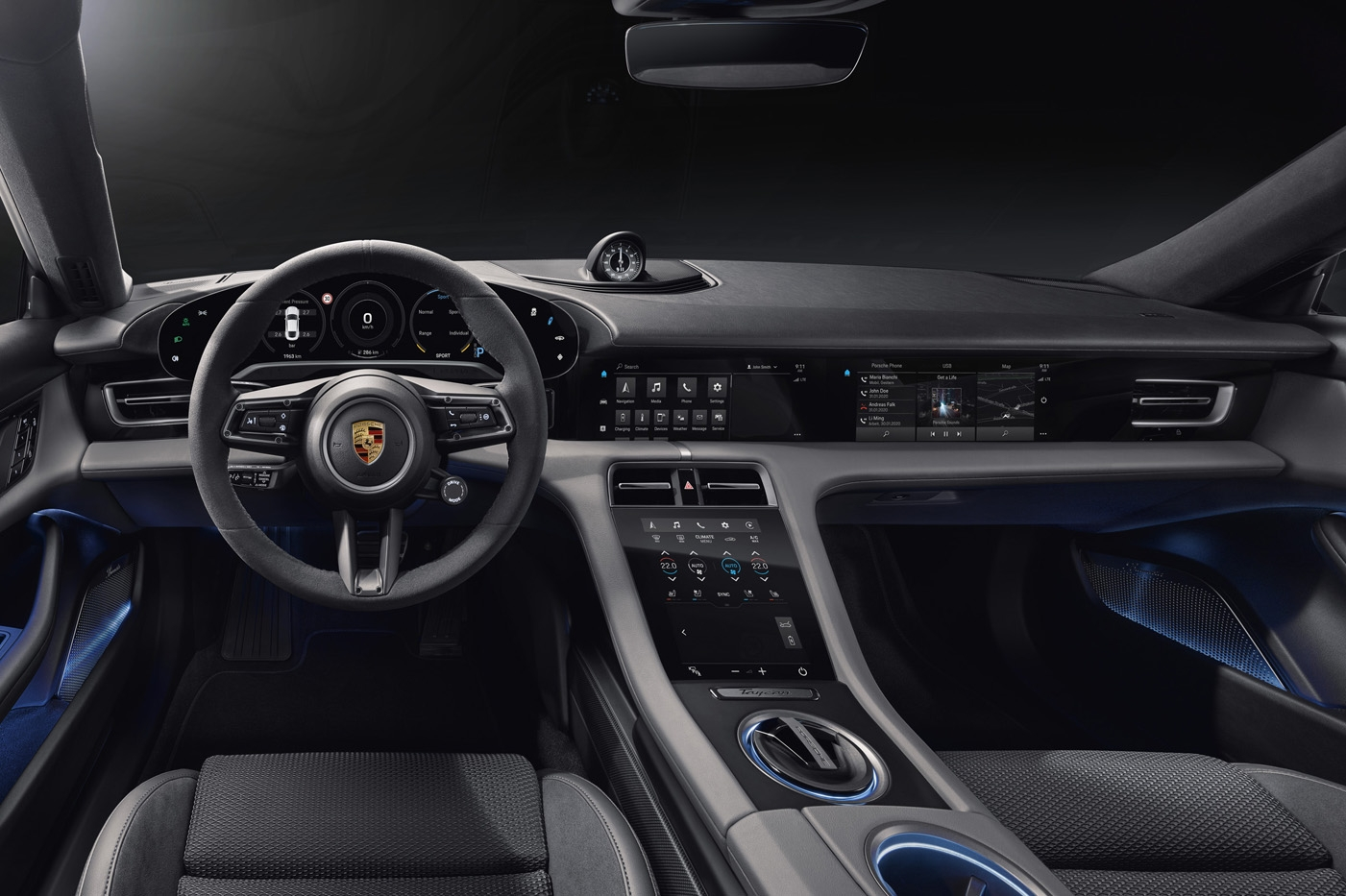 Porsche Taycan - wnętrze
