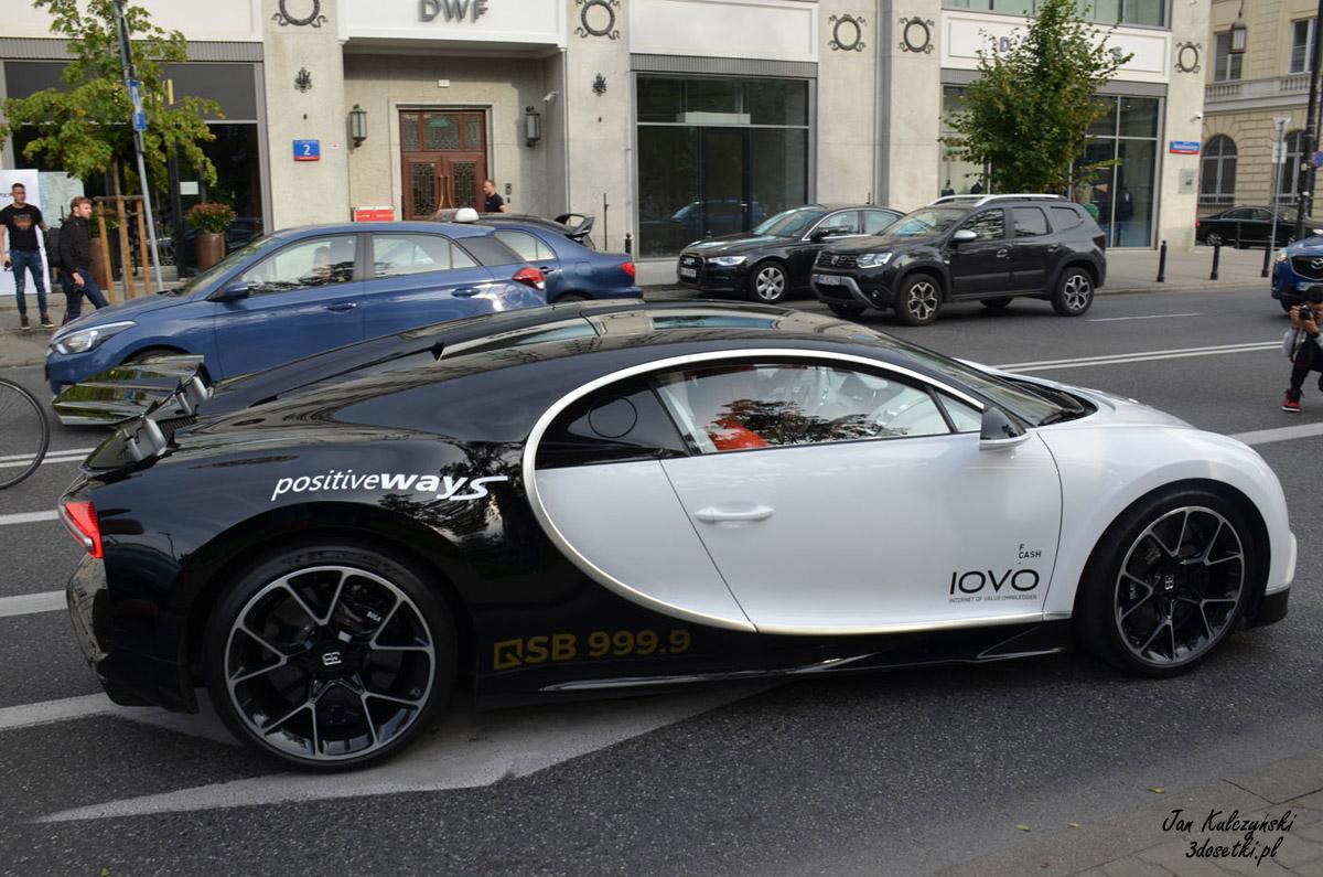Bugatti Chiron w Warszawie
