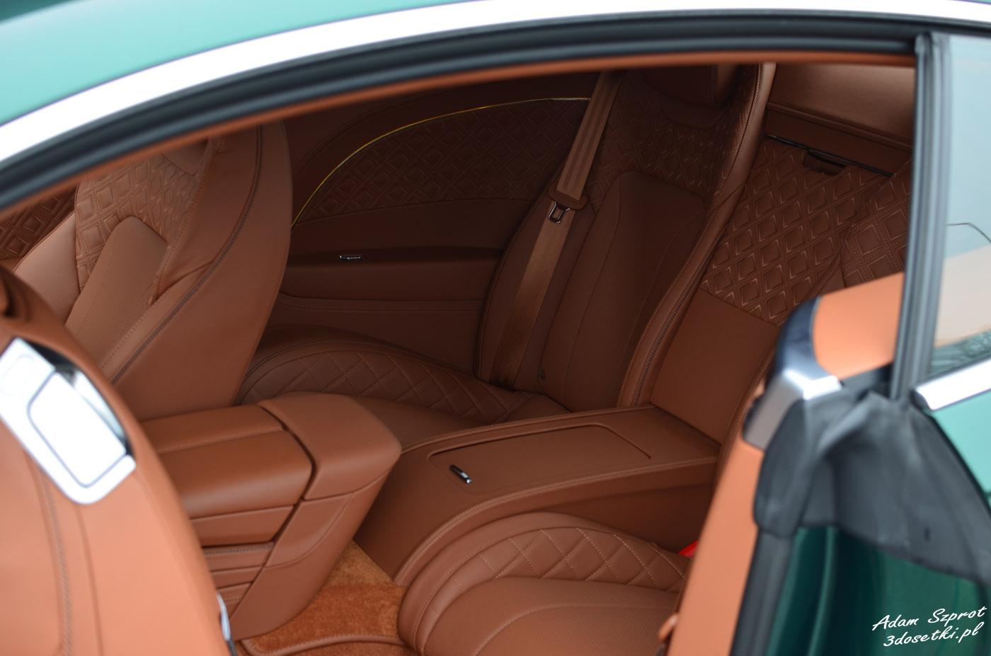 Bentley Continental GT W12 - wnętrze