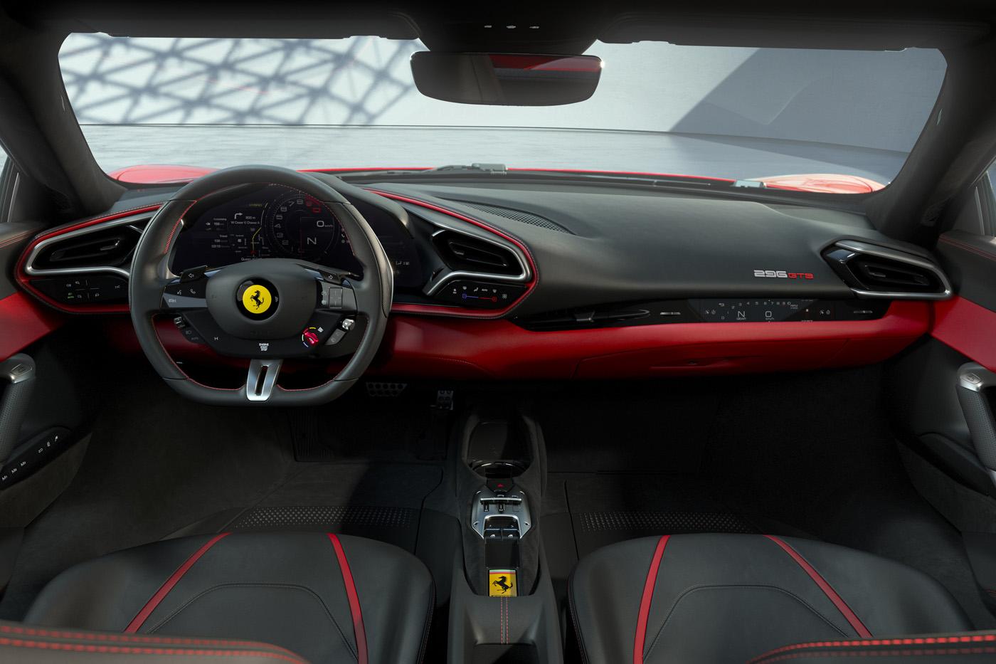 Wnętrze Ferrari 296 GTB