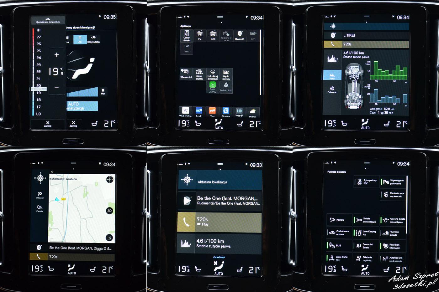 Volvo XC40 T5 ekran