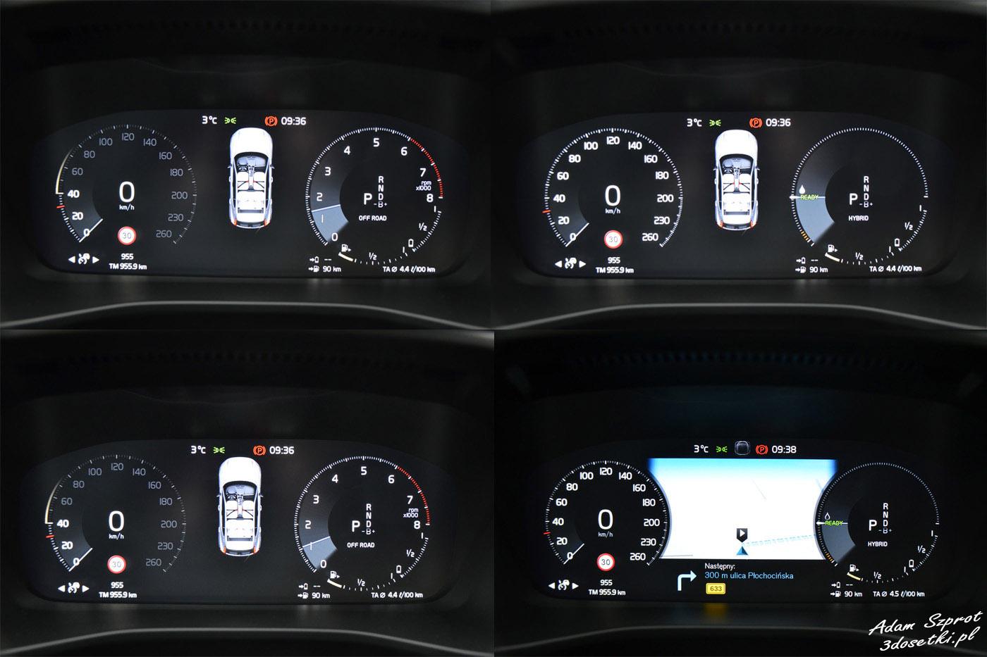 Volvo XC40 zegary