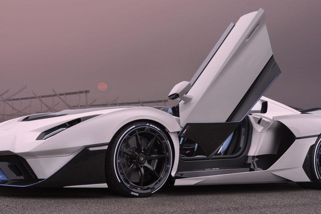 Lamborghini SC20 otwarte drzwi